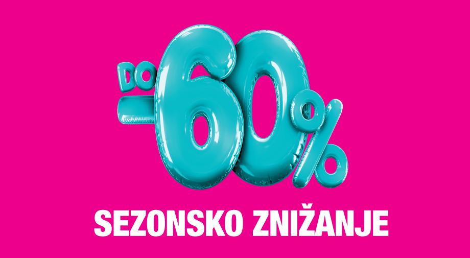 SEZONSKO ZNIŽANJE DO -60%