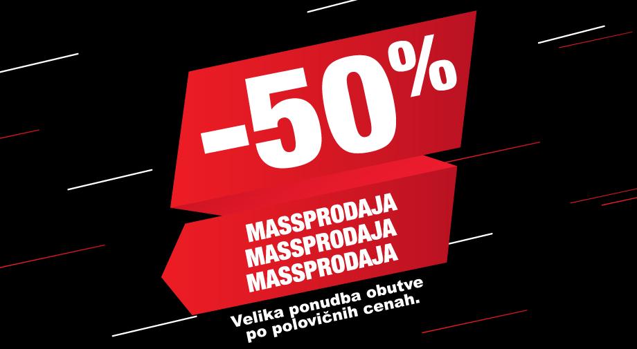 MASSPRODAJA - velika ponudba obutve po polovičnih cenah