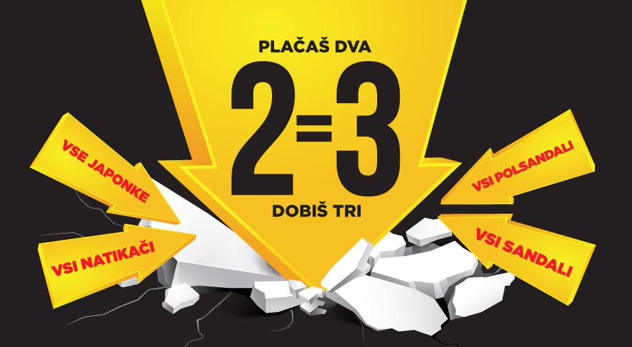 Mass akcija: PLAČAŠ 2, DOBIŠ 3!