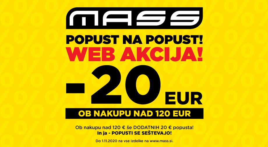 Popust na popust v spletni trgovini www.mass.si!