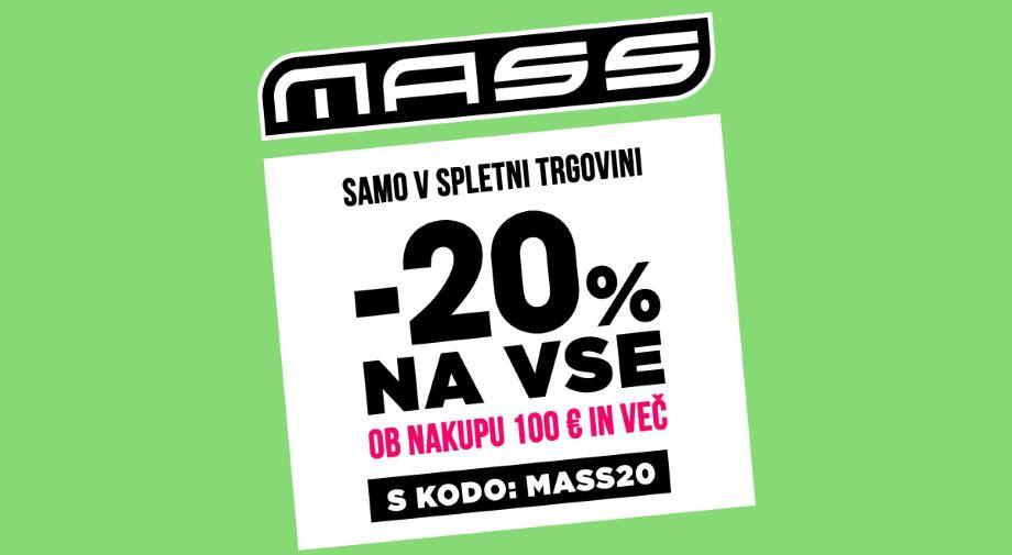 -20% na VSE ob nakupu 100 eur in več s KODO MASS20
