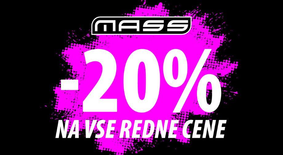 -20% na VSE redne cene na www.mass.si