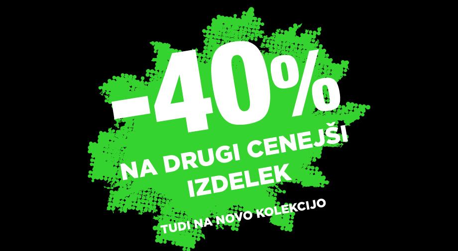 -40% na drugi, cenejši izdelek - PODALJŠANA DO 31.3.