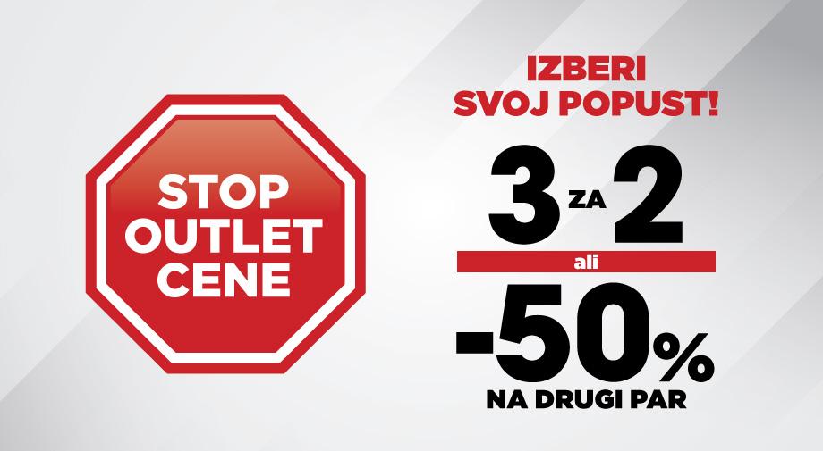 Stop outlet cene - izberi svoj popust v fizičnih trgovinah!