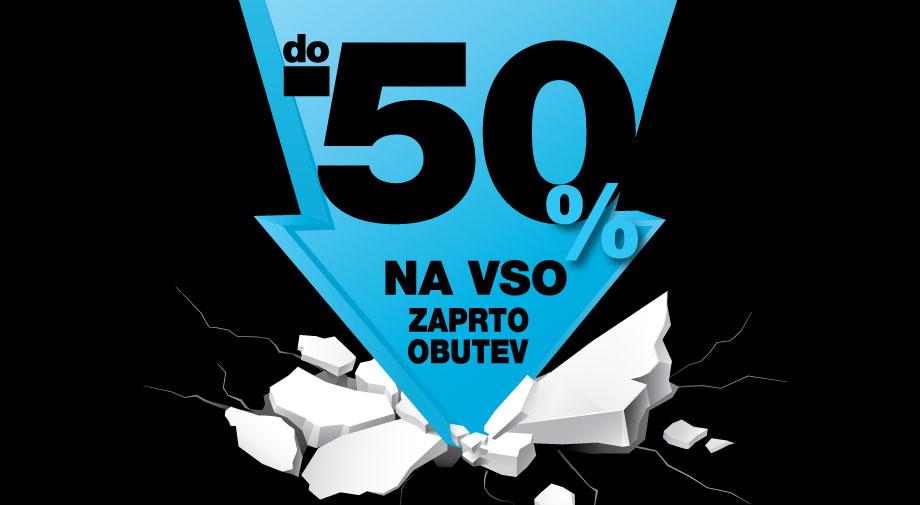 Do -50% na vso zaprto obutev!