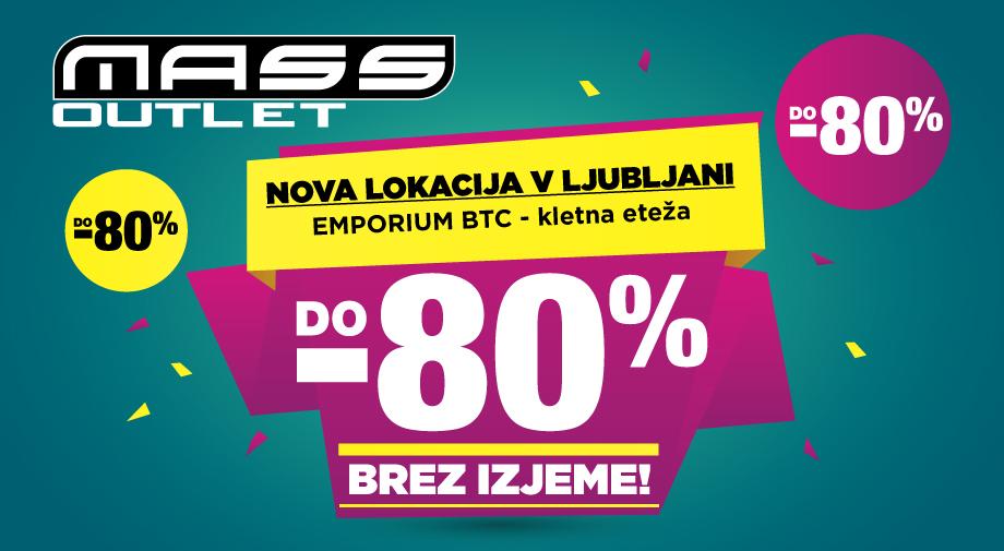 Outlet Ljubljana odpiramo 16.9. na NOVI LOKACIJI v kletni etaži Emporiuma v BTC-ju